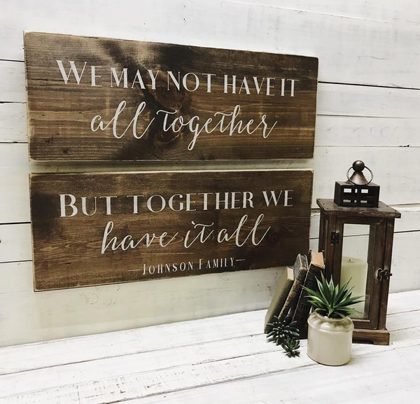 Together We Have It All  : Set of 2