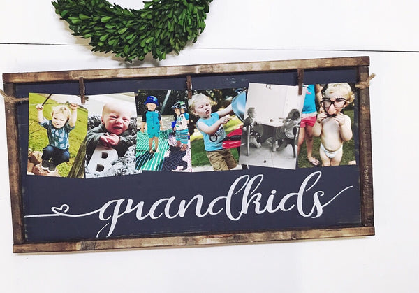 Grandkids • Framed Photo Board