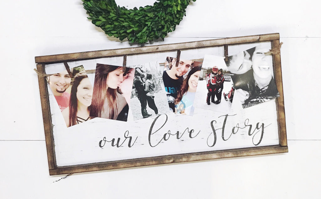 Our Love Story • Framed Photo Board