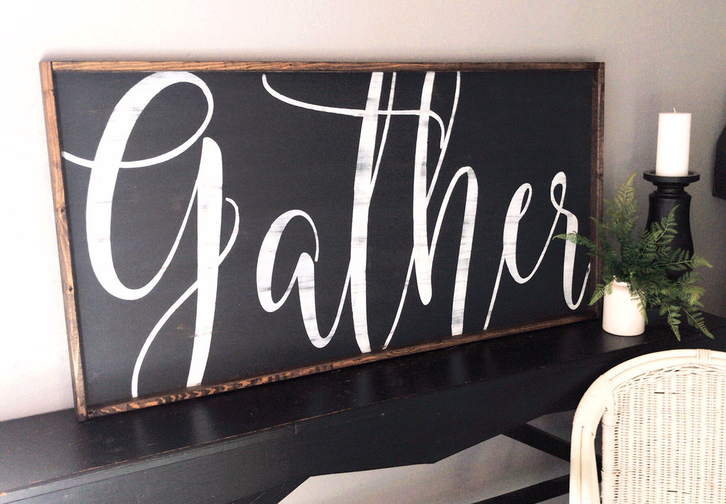 Gather • Framed Sign • XL
