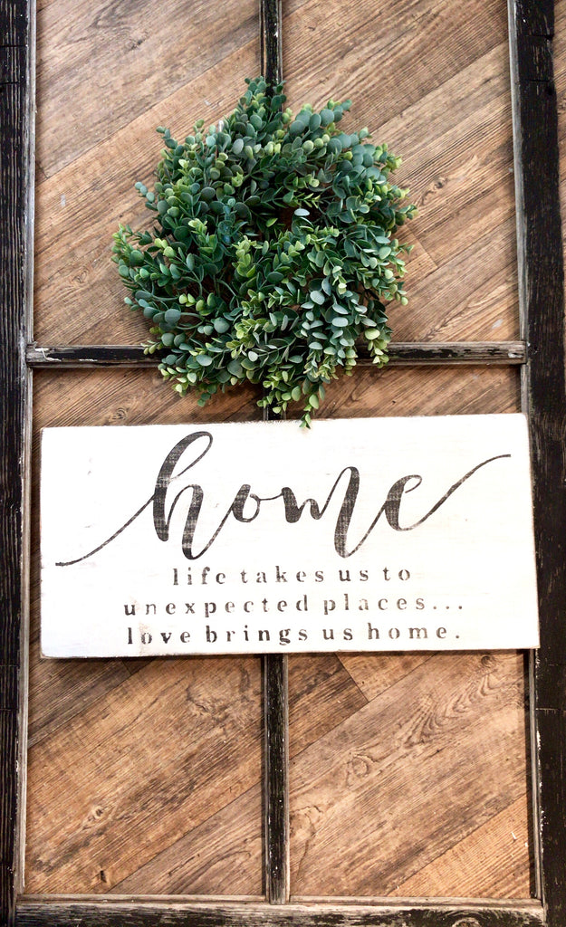 Home • Life takes you to unexpected places • Sign