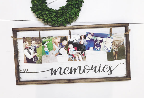 Memories • Framed Photo Board