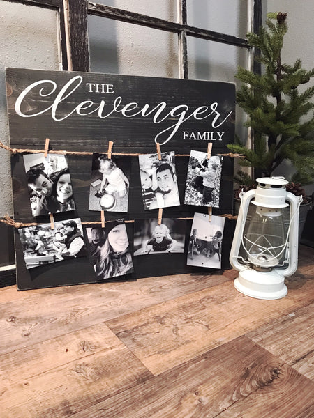 The { Last Name } Family • Custom Photo Board