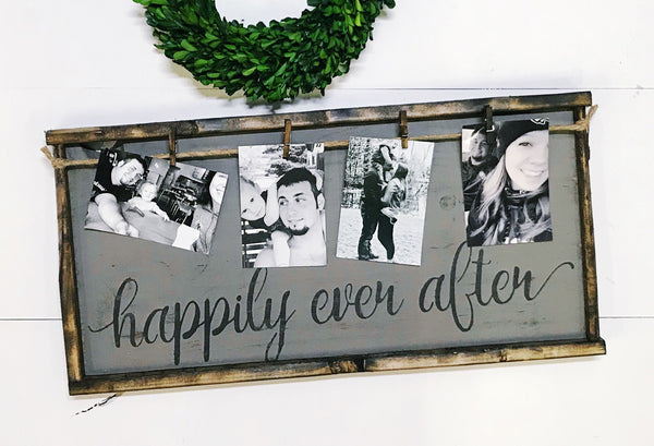 Happily Ever After • Framed Photo Board