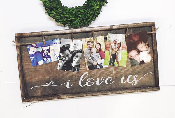 I Love Us • Framed Photo Board
