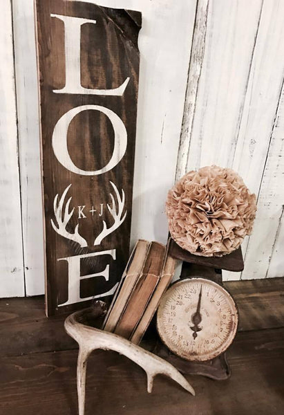 Love :: Antler + Initials or Date