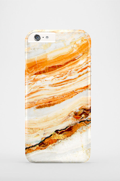 Salmon / iPhone Marble Case - Paletto - 2