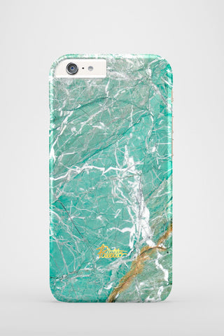 Aqua / iPhone Marble Case