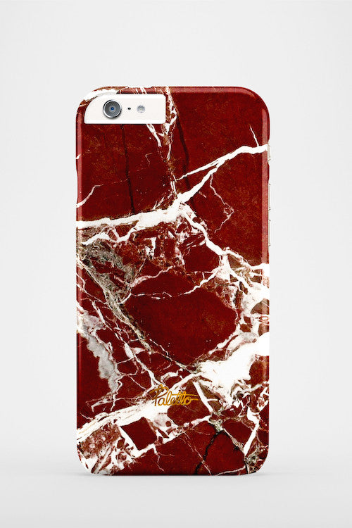 Marsala / iPhone Marble Case - Paletto - 2