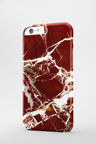 Marsala / iPhone Marble Case