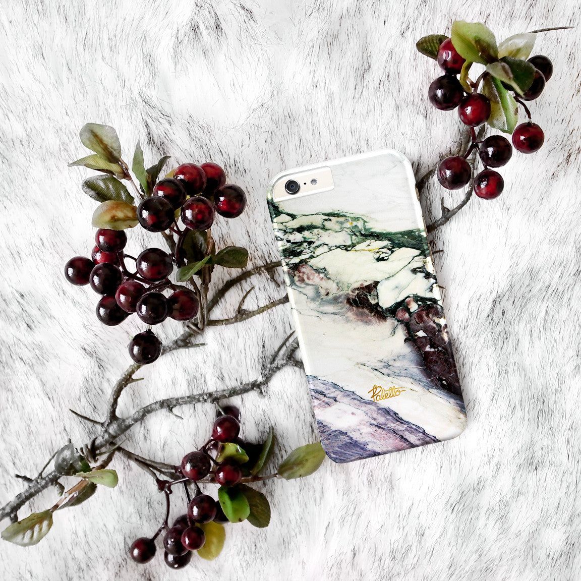 Aubergine / iPhone Marble Case - Paletto - 5