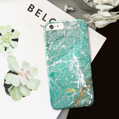 Aqua / iPhone Marble Case - Paletto - 5