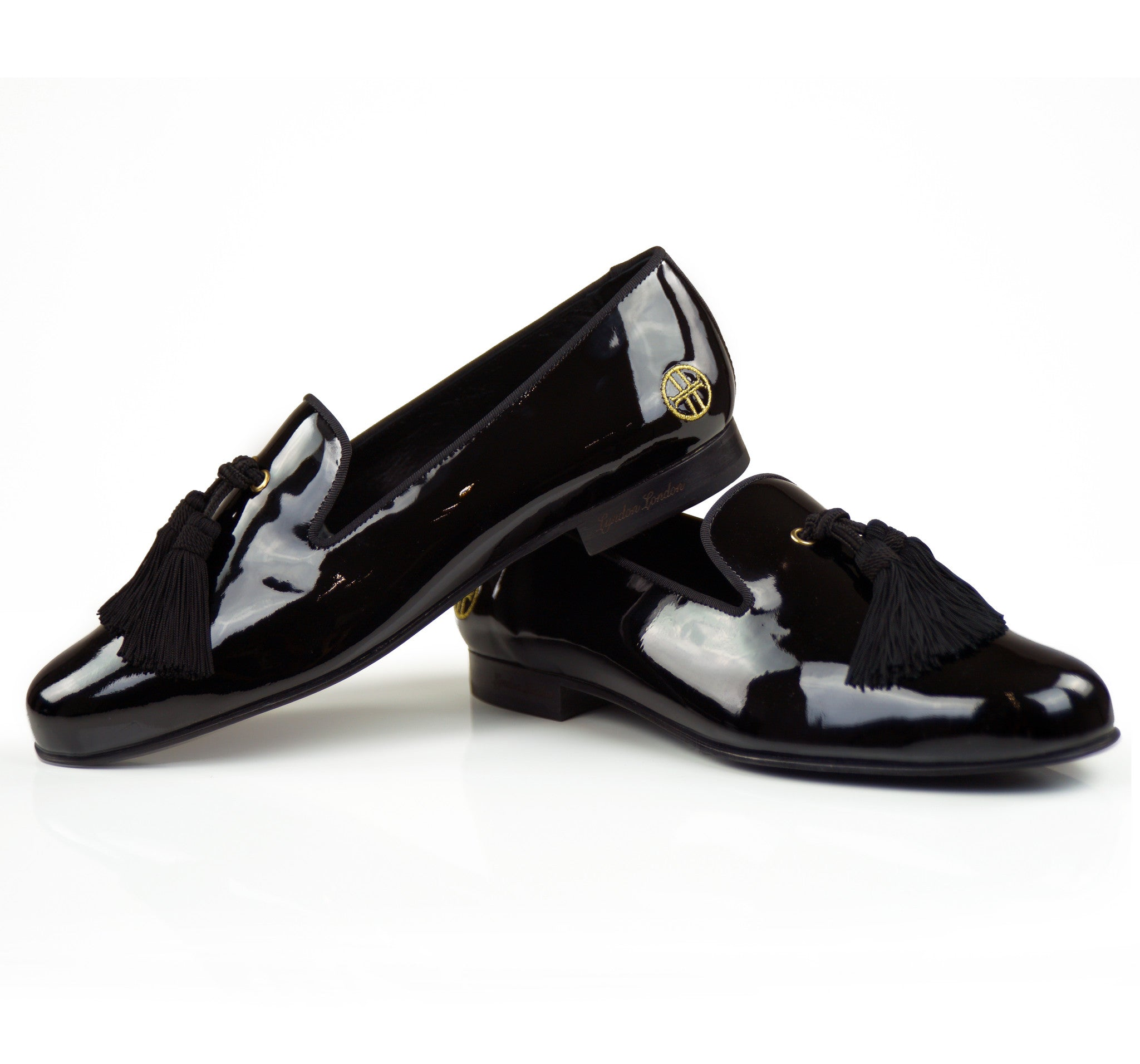 OLIVER BROOKS PATENT BLACK