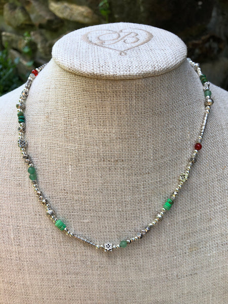 Silver and Karen Hill Tribe Bead Necklace