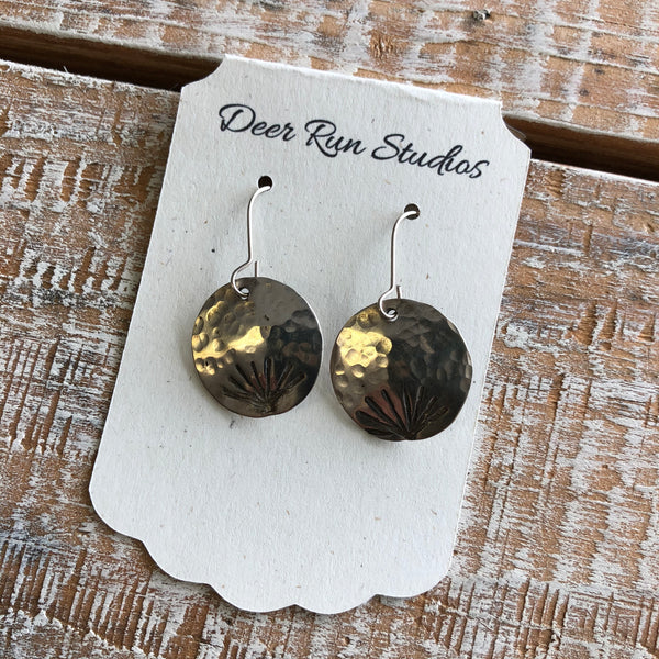 Brass Dandelion Earrings