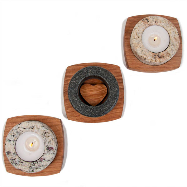 Heartstone Tea Light Holder