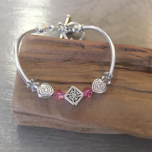 Children's Pink Hearts Bracelet