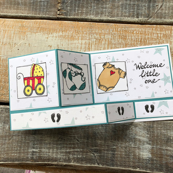 Baby Welcome Greeting Cards by Wendy Aldrich