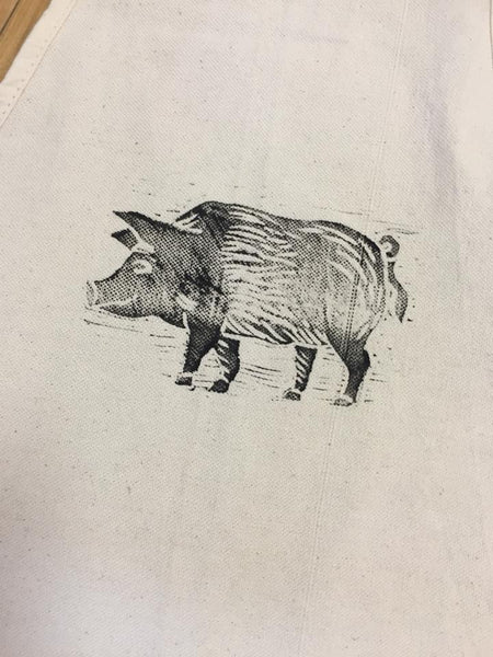 Original Artwork Aprons-Pig