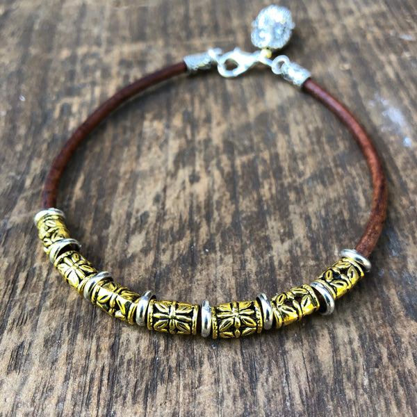 Thai Silver Anklet with Ganesh Totem