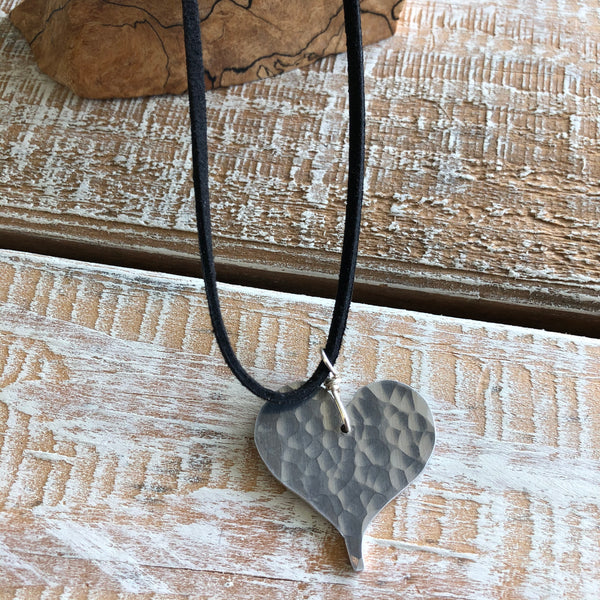 Aluminum Heart Necklace