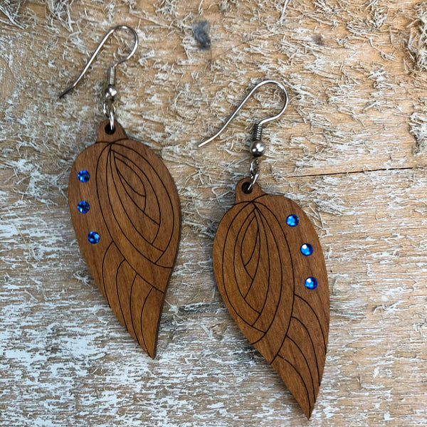 Wood Design Earrings by Zoltan
