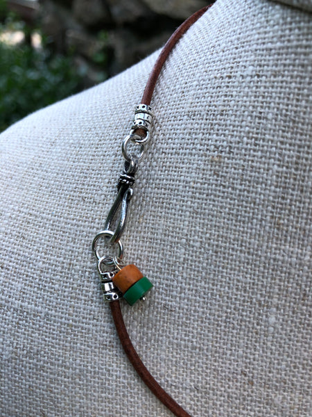 Turtle Pendant Necklace with Carnelian