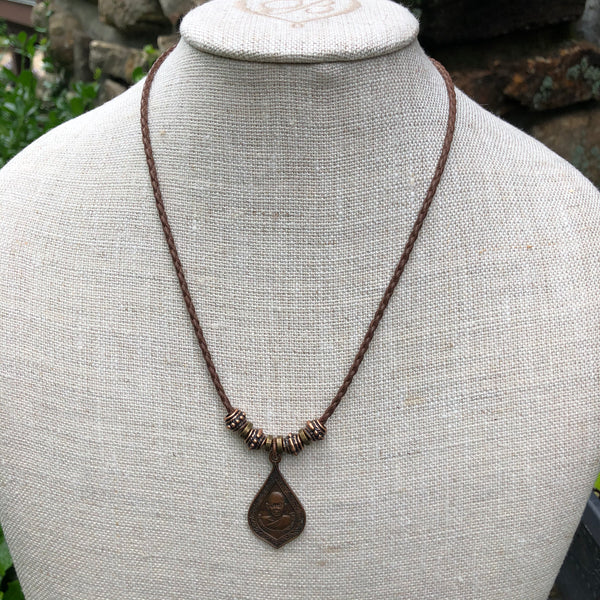 Vintage Antique Buddha Amulet Necklace