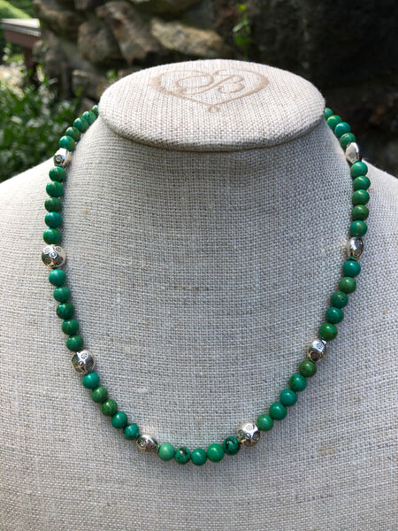 Tibetan Turquoise Necklace with Silver