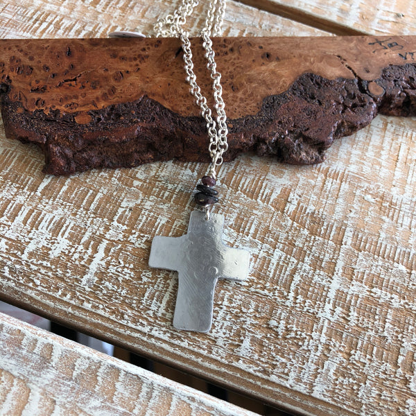 Aluminum Cross Necklace