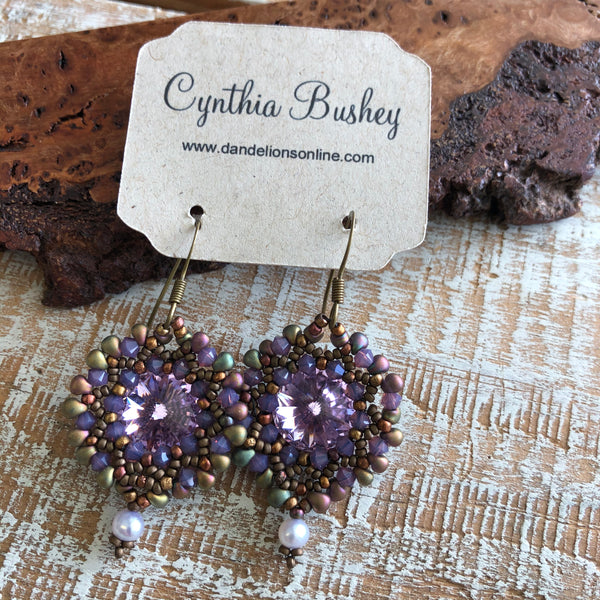 Beaded Crystal Earrings