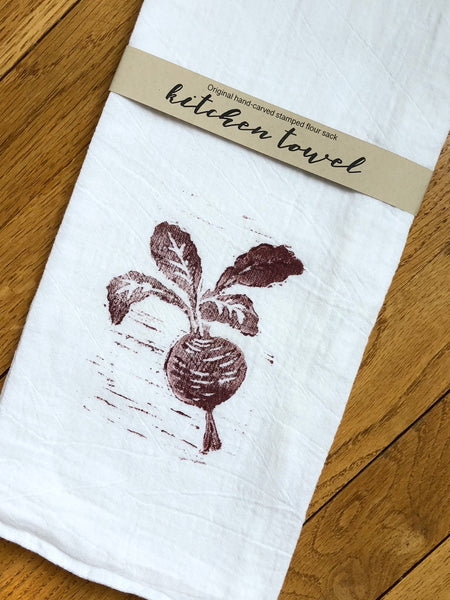 Original Hand Carved Stamped Flour Sack
