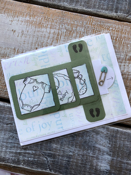 Baby Welcome Greeting Card by Wendy Aldrich