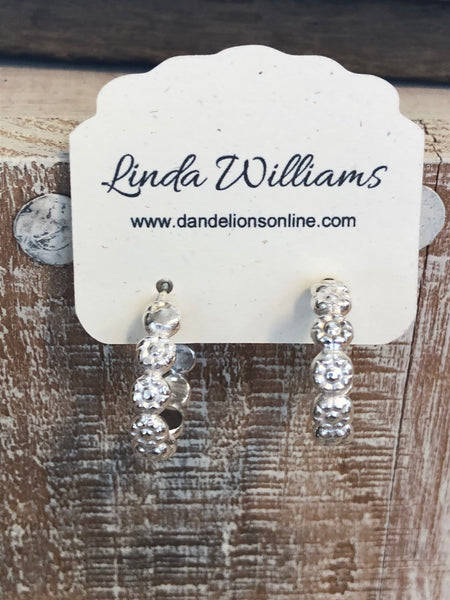 Small Sterling Silver Flower Hoops