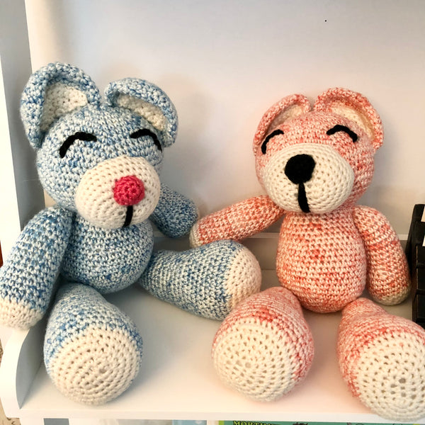 Hand knitted Happy Bears