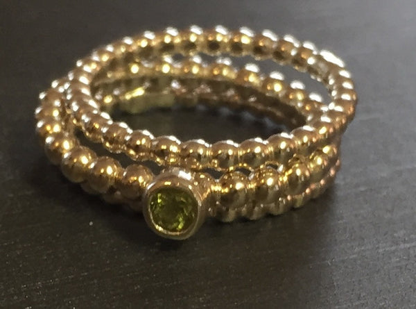 Peridot Sterling Silver Stacking Ring