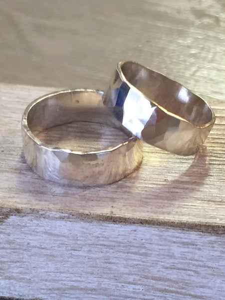 Wide Band Stacking Rings by Deer Run Studios