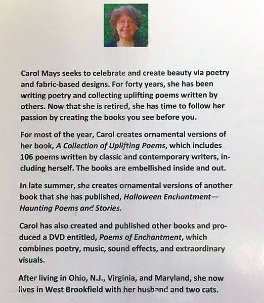 "Carol Mays ""A Collection of Uplifting Poems"""