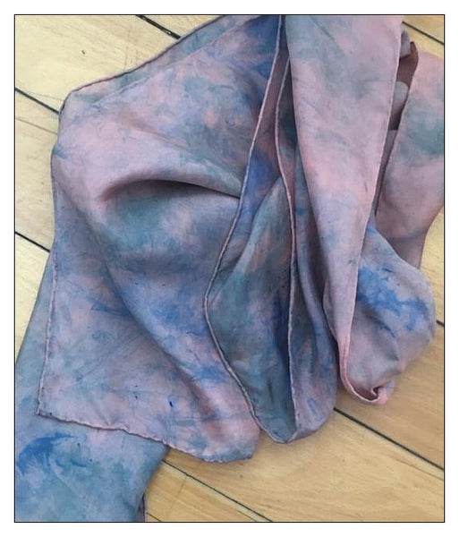 "Hand Dyed Silk Scarf ""Moonlight"""