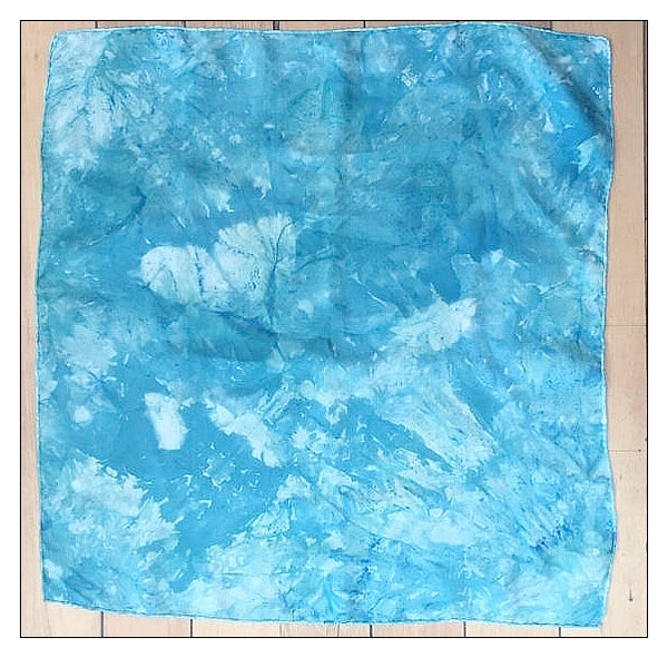 Hand Dyed Silk Scarf-Teal