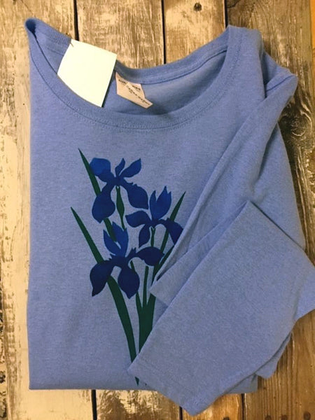 Blue Iris Long Sleeve Top