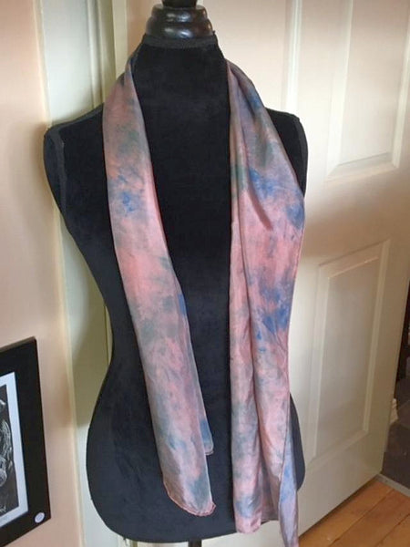 Hand Dyed Silk Scarf-Moonlight