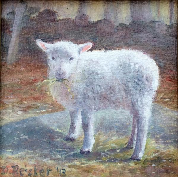 Deb Reicker Greeting Cards - Reicker Lamb