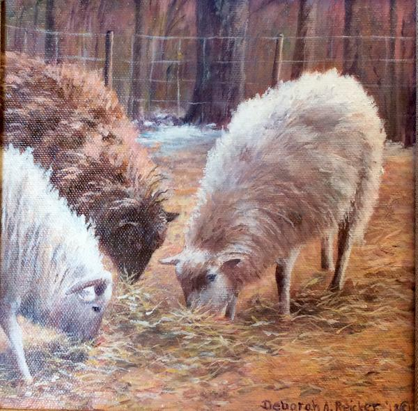 Deb Reicker Greeting Cards- Three's a Flock