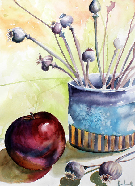 Apple, Poppy Pods and Pottery by Kara Kowalczyk-Fisher