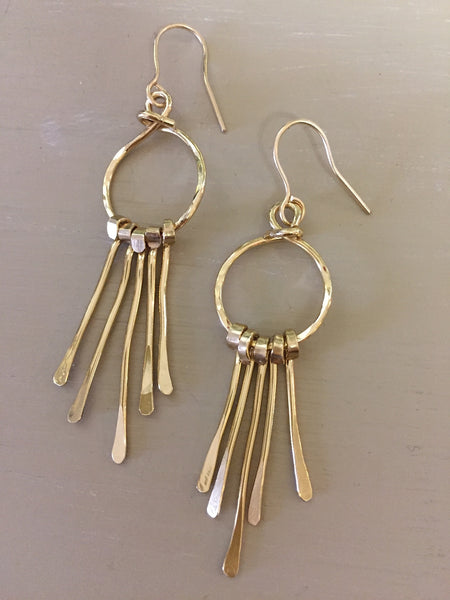 Golden Circle and Dangles Earrings