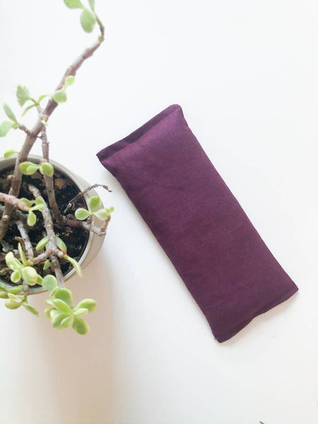 Cranberry Weighted Eye Pillow