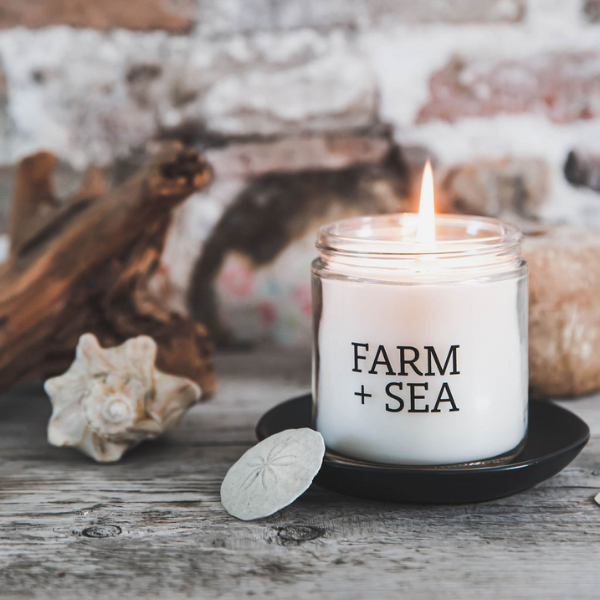 Peony and Sea Salt Classic Soy Candle by Farm + Sea