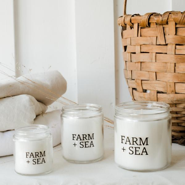 Seagrass and Cucumber Classic Soy Candle by Farm + Sea