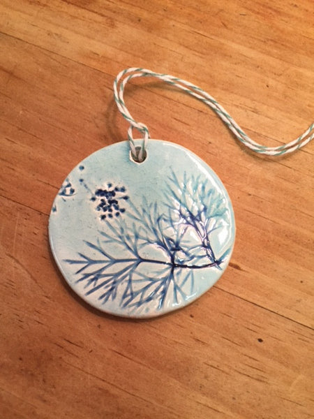 Botanical Imprint Gift Tag Ornaments